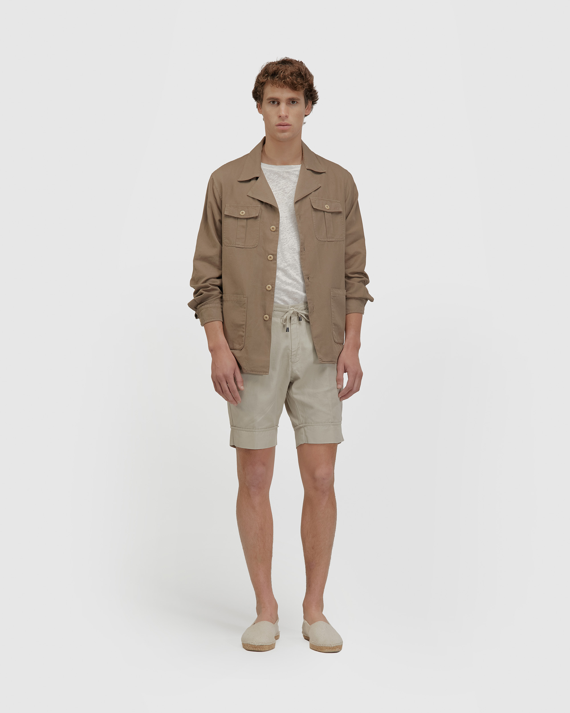 The leisure shirt jacket Taupe
